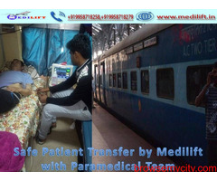 Use Medilift Train Ambulance in Delhi with the Best ICU Facility