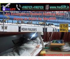 Use Medilift Train Ambulance Service in Kolkata with Best Medical Setup