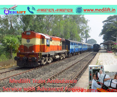 Use Medilift Train Ambulance Service in Bangalore with all ICU Facility
