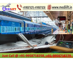 Use Medilift Train Ambulance in Dibrugarh with Expert Medical Team