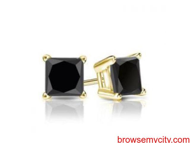 Black Diamond Earring for Men - 2/2