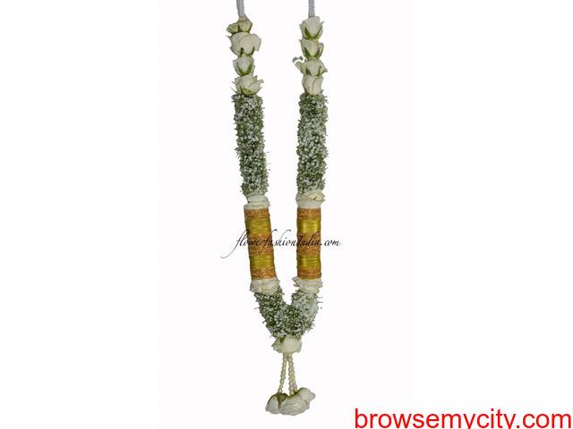 Indian Wedding Garlands Online, Jasmine Flower Gajra, Indian Wedding Garlands - 2/6