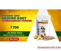 Organic and Ground Root Ashwagandha Powder