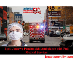 Pick Ambulance Service in Janakpuri at an Inexpensive Cost