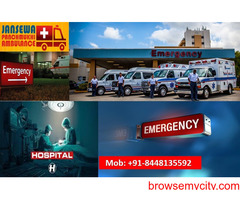 Avail special equipped Ambulance Service in Saguna More