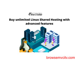 Buy unlimited Linux Shared Hosting with advanced features