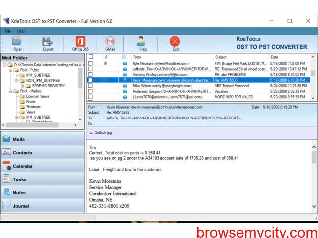 Conversor OST para PST ferramenta - 3/4