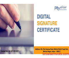 Digital signature certificate in jaipur