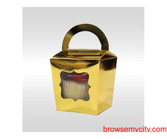 Create an Appealing Look of Your Bakery Products by the Use of Metallic Gold Cake Boxes