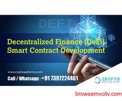 Decentralized Finance (DeFi) Smart Contract Development-Crypto App Factory
