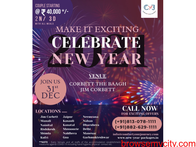New Year Packages 2021 | The Baagh Resort Jim Corbett - 1/1