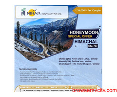 Best Tour Himachal Packages in India,Honeymoon Packages