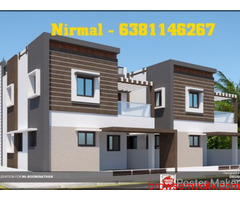 West Facing New 3Bhk compactHouse for sale in cheranmaa nagar, Coimbatore