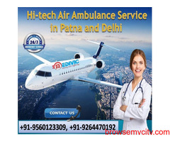 Take Supreme Life Savior Air Ambulance Service in Imphal by Medivic