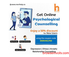 Consult with top psychologist for Online Psychological Counseling Session in India.