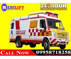 Book Medilift Trustworthy Ambulance in Ranchi at Low Fare