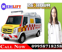 Hire 24 Hours Emergency Ambulance in Jamshedpur by Medilift