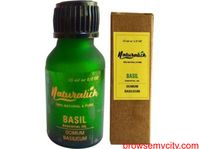 Choose Naturalich Basil Essential Oil for Healthy Skin and Hair - 1/1