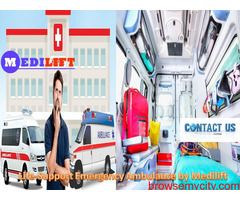 Select Ventilator Ambulance near Patna at Low Fare by Medilift