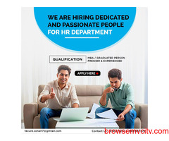 hiring dedicated and passionate people for HR Department