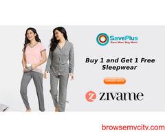 Buy 1 Get 1 Free sleepwear at Zivame