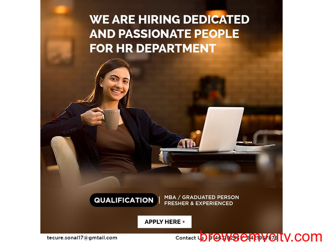 We are hiring dedicated and passionate people for HR Department - 1/1