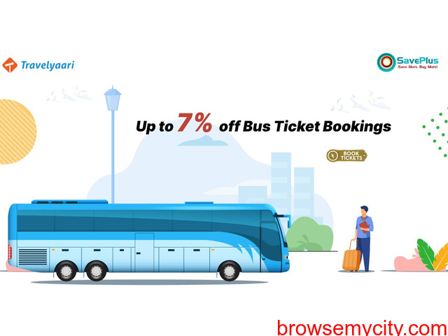 Up to 7% off Bus Ticket Bookings - 1/1
