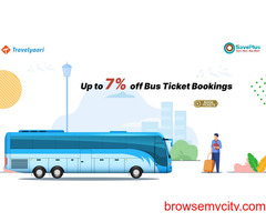 Up to 7% off Bus Ticket Bookings
