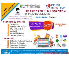 Certified Internship in Coimbatore | Ether infotech