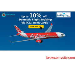 EaseMyTrip Coupons, Deals & Offers: Up to 10% off Domestic Flight Bookings Via ICICI Bank Cards