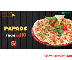 Papads from Rs.110 at Food Feasta
