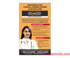 MRCP, MRCS Clinical Primer Course in Bangalore