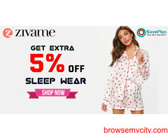 Zivame Coupons, Deals & Offers: Get Extra 5% off Sleepwear