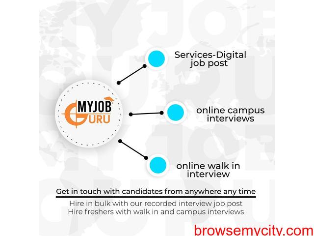 Online Video Interview - Live Interview - Campus Interview   MyJobGuru - 3/4