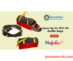 Get up to 76% off on Duffle Bags