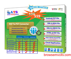 NSF to PST Converter to Export NSF Files to PST Files