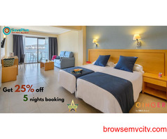 Get 25% off 5 nights booking at Ginger Hotels