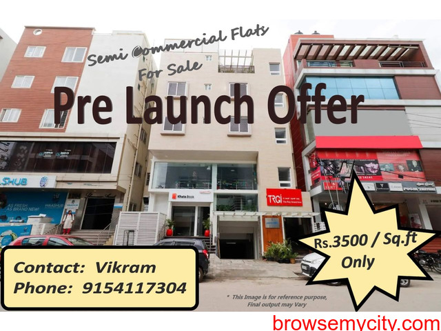 Pre-Launch offer on Residential Flats at NIZAMPET Main road facing Apartment, Hyderabad. - 1/3