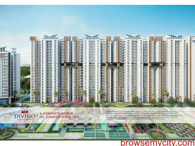 Ace Divino 9250002243 Garden Apartments Starts Only @ 41.18 Lacs* - 1/3
