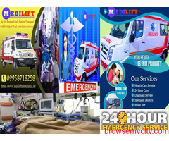 Get the Lowest Fare Ambulance in Patna by Medilift with ALS Facility