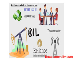 What are the price of Reliance rights issue