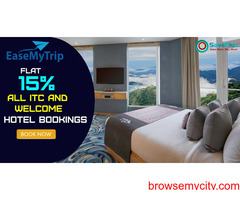 EaseMyTrip Coupons, Deals & Offers: Flat 15% All ITC and Welcome Hotel Bookings