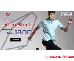 Linen Shirts starting at Rs.1800