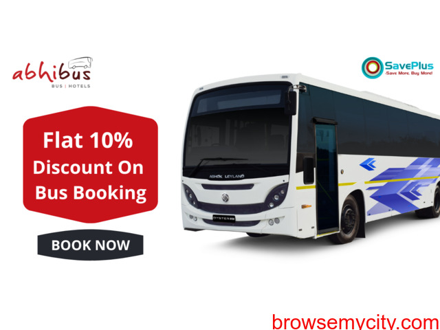 Flat 10% Discount on Bus Booking - 1/1
