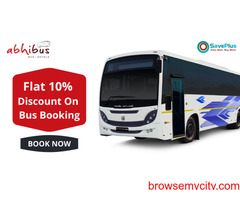 Flat 10% Discount on Bus Booking