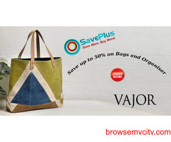 Vajor Coupons, Deals & Offers: Save up to 50% on Bags and Organiser