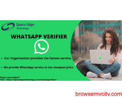 Our Organization provide you the Best WhatsApp Verifier service across the globe.