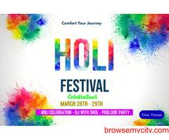 holi celebration packages near delhi ncr   best holi packages 2021