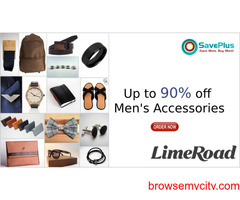 LimeRoad Coupons, Deals, sales , and Codes: Up to 90% off Men's Accessories