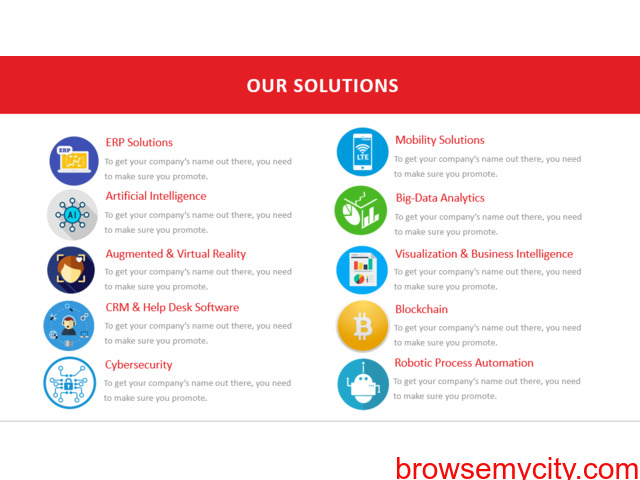 We Provide Best Software,Solutions and Services. - 3/4